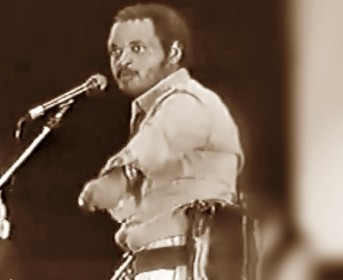 An EPLF Fighter-actor performing in a propaganda show in Europe in 1980's