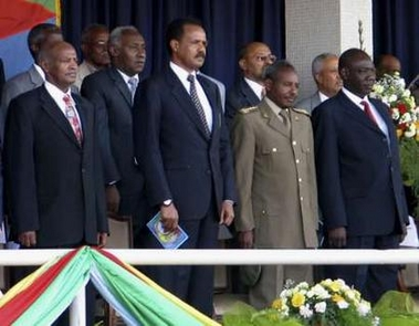 Eritrean president and  high ranking officials at Independence Day celebration in Asmara May 24, 2007.